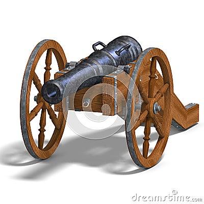 De artilleriekanon van het gebied