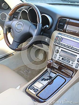 De auto convertibel binnenland 3 van de luxe