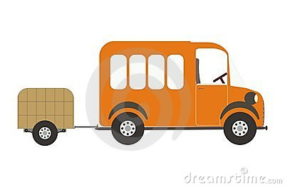 De auto van de bestelwagen en van de bagage