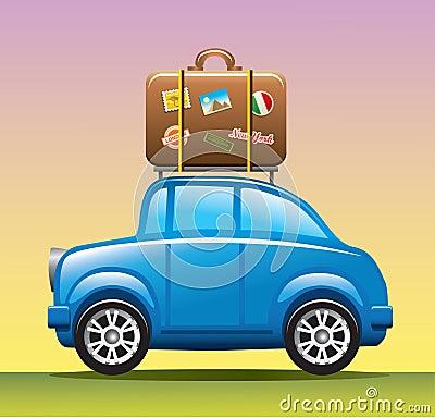 De auto van de reis