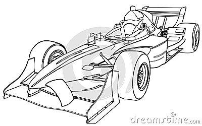 Royalty Vrije Stock Afbeelding De Auto Van Formule 1 Image4955836