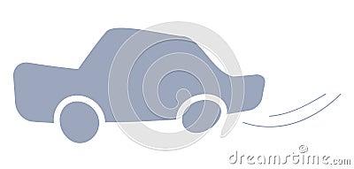 De auto van het pictogram