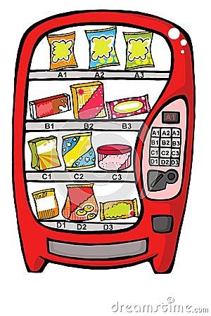 De automaat van het voedsel