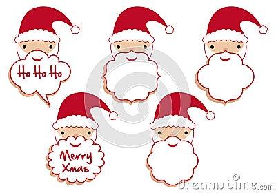 De baardframes van de kerstman