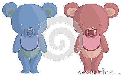 De Baby van Teddy draagt
