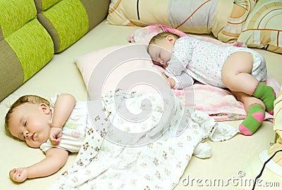 De babys van de slaap