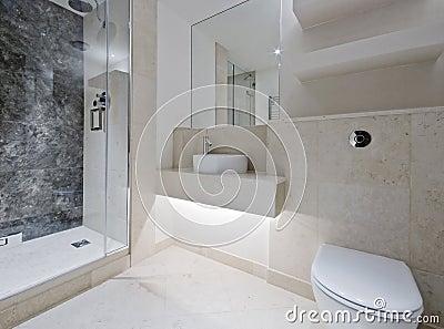 De badkamers van de luxe met marmer stock afbeeldingen beeld 11869894 - Moderne badkamer betegelde vloer ...
