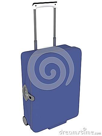 De bagage van de reis op wielen