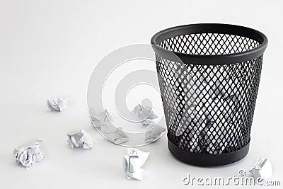 De bak van het afval