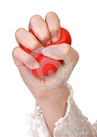 De bal van de spanning