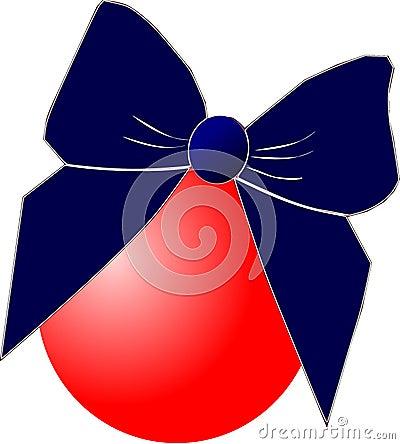 De bal van Kerstmis met boog