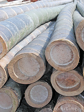 De balkenclose-up van het bamboe