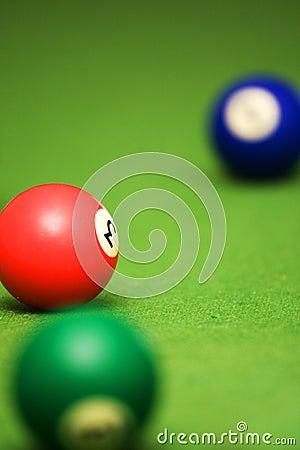 Poolballen op poollijst