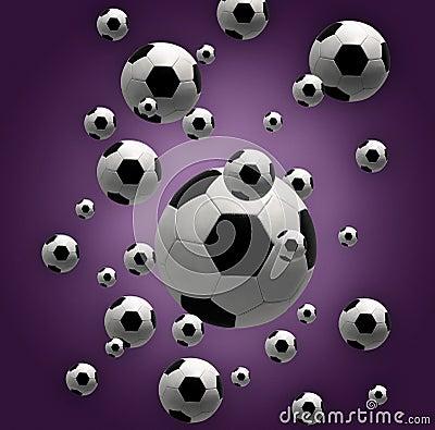De ballen van het voetbal