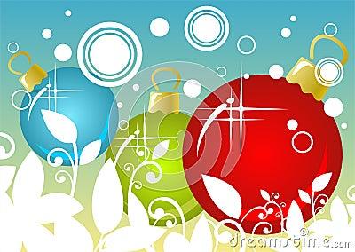 De ballenachtergrond van Kerstmis