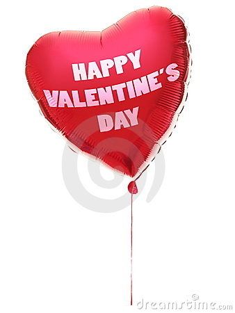 De ballon van het de daghart van valentijnskaarten