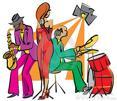De band van de jazz