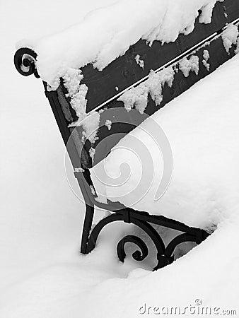 De bank van de winter