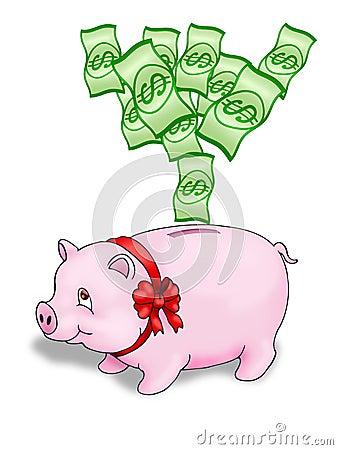 De bank van het varken