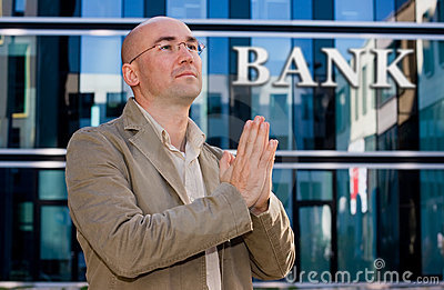 De bankier van de investering het bidden