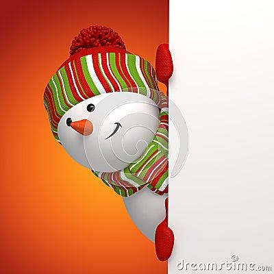 De banner van de sneeuwman