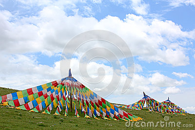 De banner van Tibet