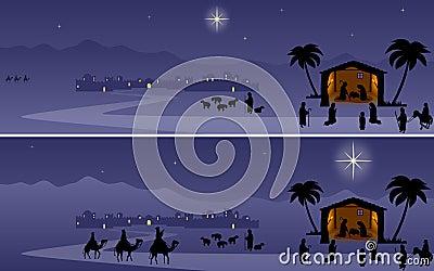 De Banners van de geboorte van Christus