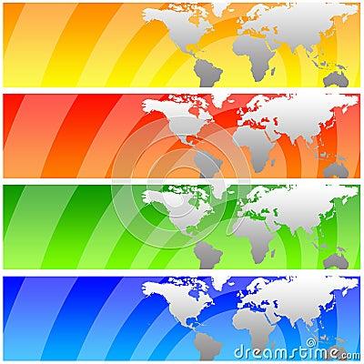 De banners van de wereld
