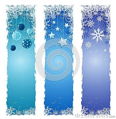 De banners van de winter