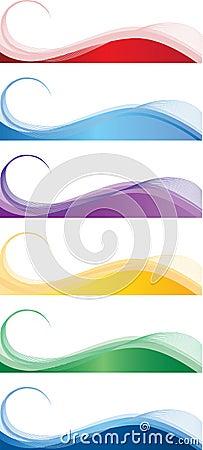 De banners van het Web