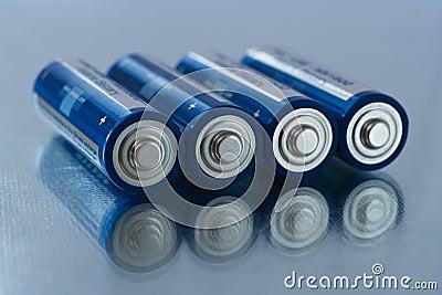 De batterijen van aa