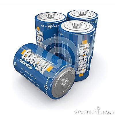 De batterijen van de energie