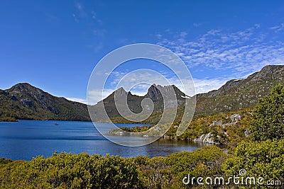 De Berg Tasmanige Australië van de wieg