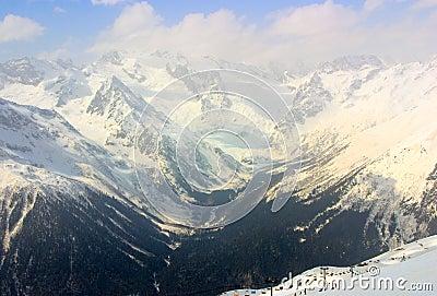 De berg van de Kaukasus