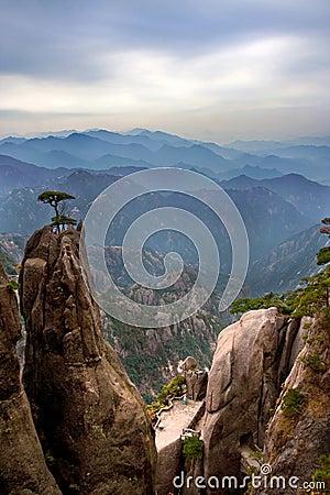De beroemde berg van China