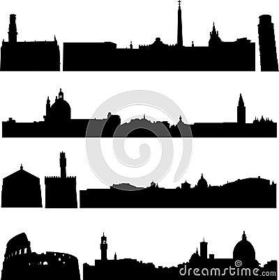 De beroemde gebouwen van Italië.