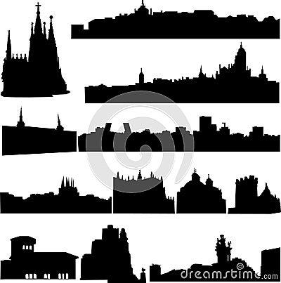 De beroemde gebouwen van Spanje.