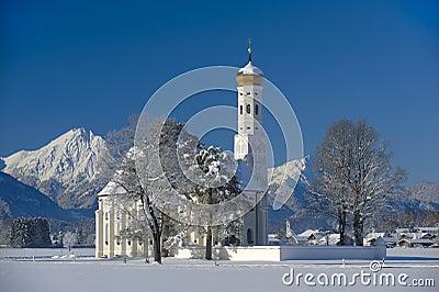 De kerk van het oriëntatiepunt in Beieren