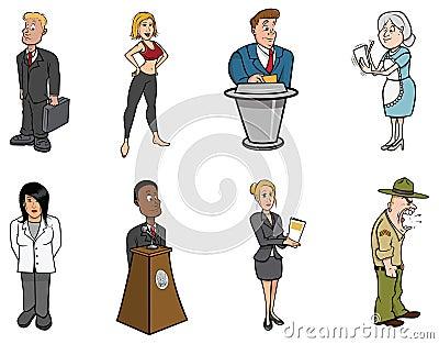 De beroepen van mensen