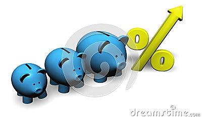 De Besparingen van de groei