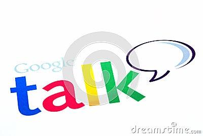 De besprekingsembleem van Google Redactionele Afbeelding