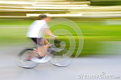De beweging van de fiets