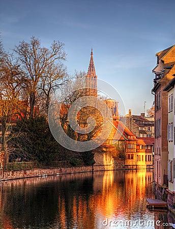 De Bezinningen van de avond in Straatsburg