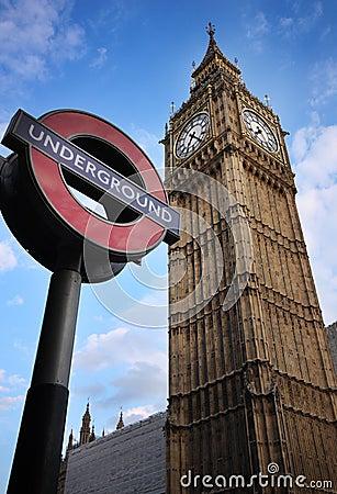 De Big Ben, Londen Redactionele Afbeelding
