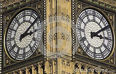 De Big Ben, Londen.
