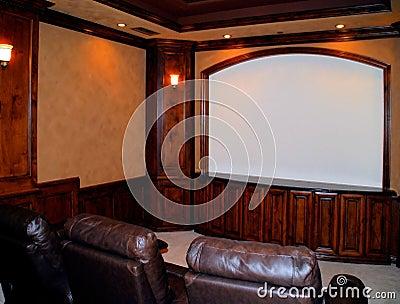De bioscoop van het huis stock fotografie beeld 15655372 - Scherm huis ...