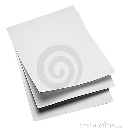 De Bladen van het document