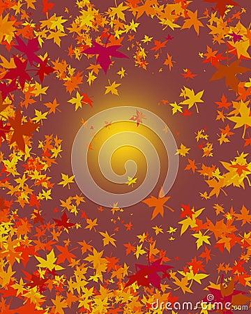 De bladerenachtergrond van de herfst