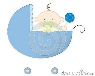 De blauw van de baby