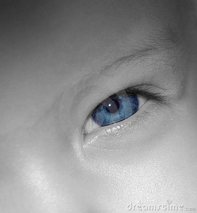 De Blauwe Ogen van de baby